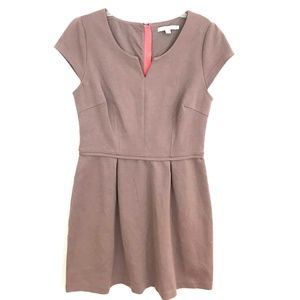 Boden fit & flare dress short cap sleeve knit